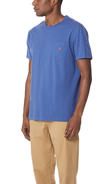 Polo Ralph Lauren Cotton Jersey Pocket Tee