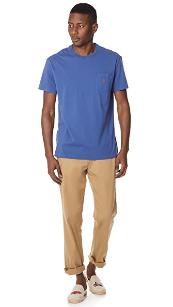 Polo Ralph Lauren Cotton Jersey Pocket Tee