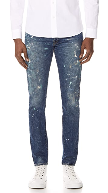 Polo Ralph Lauren Sawyer Paint Splatter Jeans