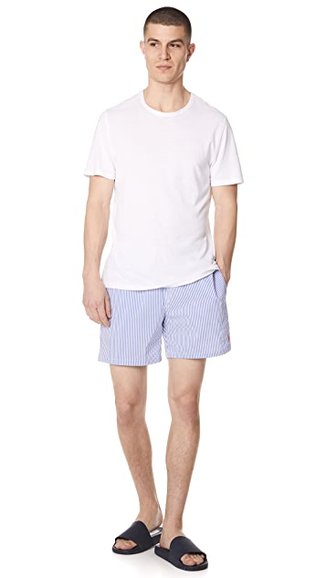 Polo Ralph Lauren Stretch Seersucker Swim Trunks