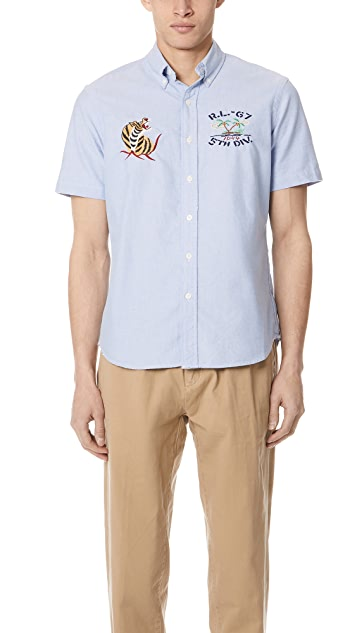 Polo Ralph Lauren Hawaiian Oxford Shirt with Short Sleeves
