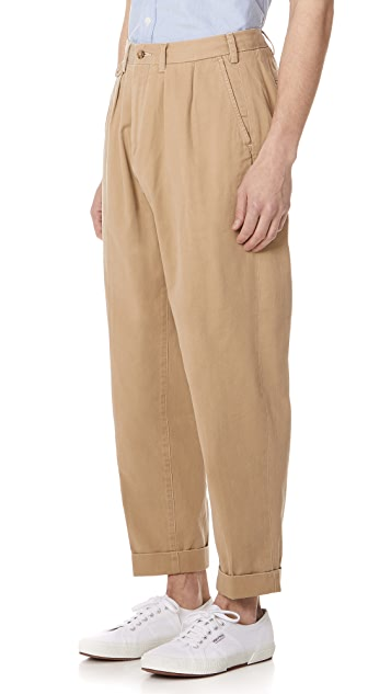 Polo Ralph Lauren Pima Cotton Pleated Trousers