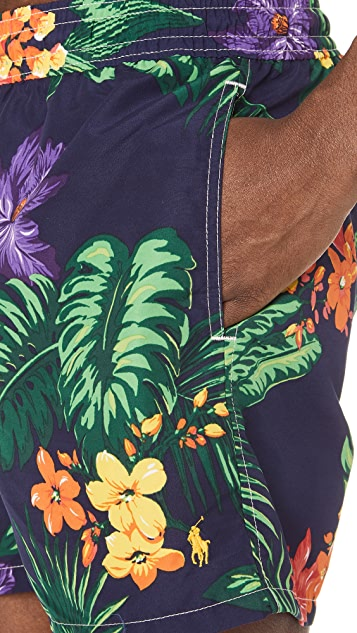 Polo Ralph Lauren Tropical Jungle Traveler Swim Trunks