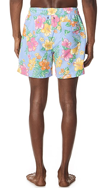 Polo Ralph Lauren Hibiscus Traveler Swim Trunks