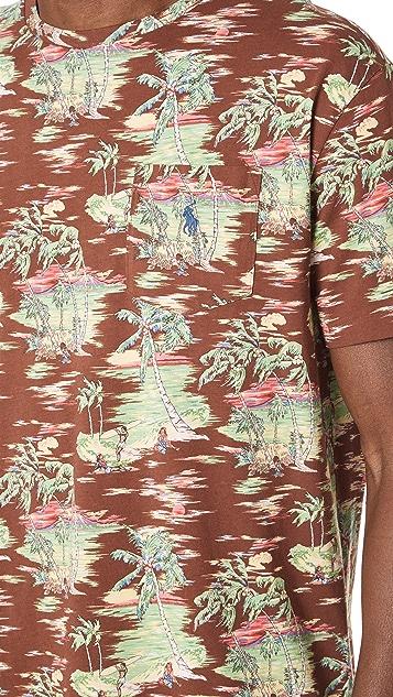 Polo Ralph Lauren Brown Hawaiian Tee
