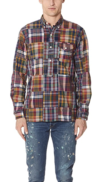 ae3093c7 Polo Ralph Lauren Patchwork Madras Shirt | EAST DANE