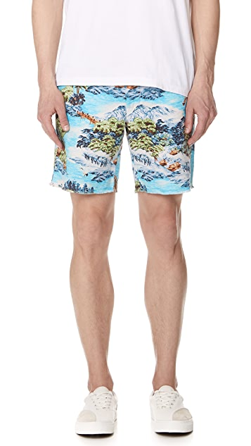 Polo Ralph Lauren Montauk Chino Shorts with Hawaiian Landscape