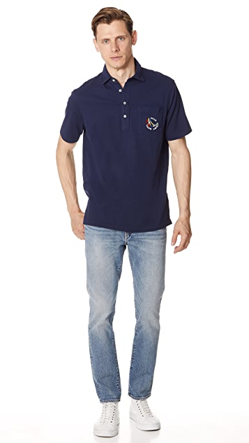 Polo Ralph Lauren Washed Lisle Patch Polo Shirt