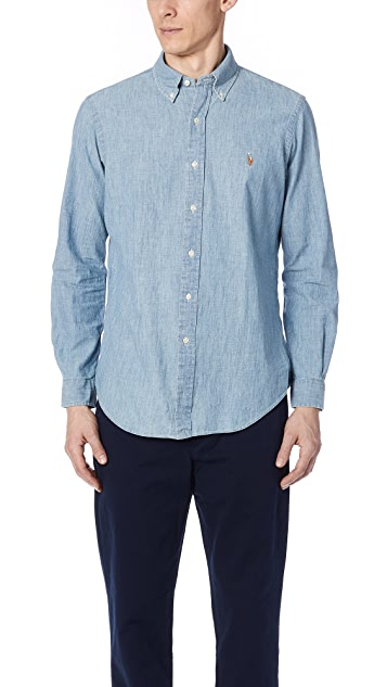 Polo Ralph Lauren Standard Fit Chambray Sport Shirt