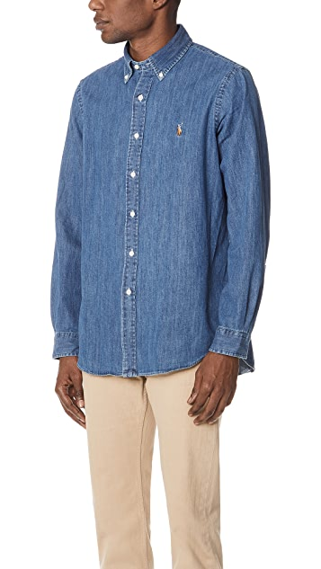Polo Ralph Lauren Standard Fit Denim Sport Shirt