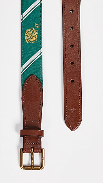 Polo Ralph Lauren 28mm Collegiate Motif Belt