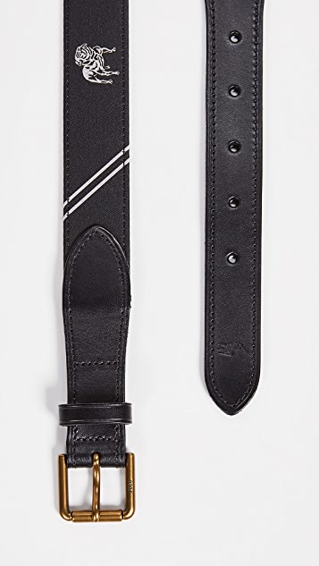 Polo Ralph Lauren 28mm Bulldog Motif Belt