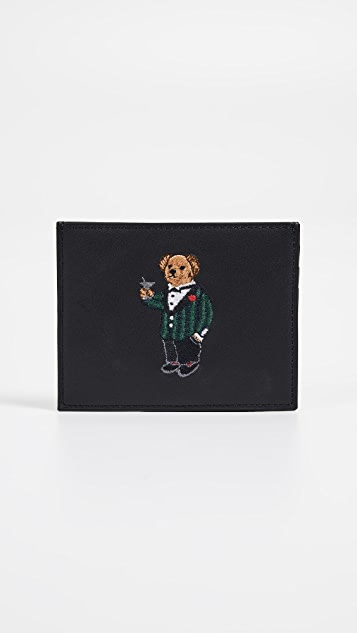 Polo Ralph Lauren Tartan Bear Card Case