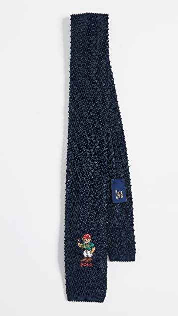 Polo Ralph Lauren Polo Player Bear Knit Tie