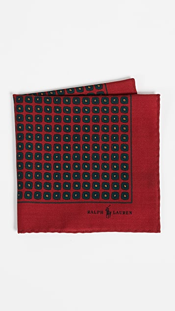 Polo Ralph Lauren Heritage Challis Neat Pocket Square