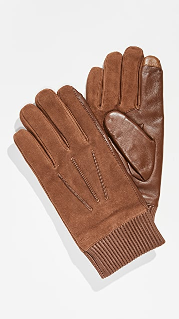 Polo Ralph Lauren Nappa Patch Suede Gloves