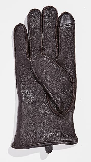 Polo Ralph Lauren Deerskin Gloves with Side Zip