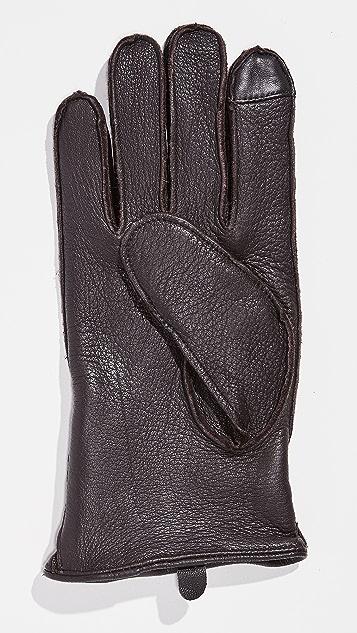 Polo Ralph Lauren Deerskin Gloves with Side Zip