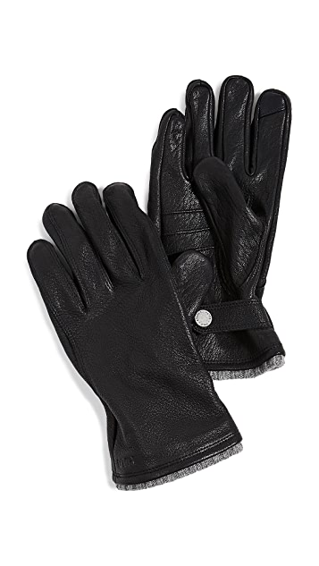 Polo Ralph Lauren Deerskin Gloves with Knit Cuff