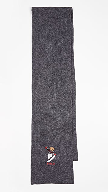 Polo Ralph Lauren Skate Bear Scarf