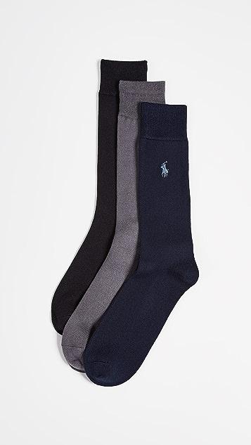 Polo Ralph Lauren 3 Pack Supersoft Flat Knit Socks