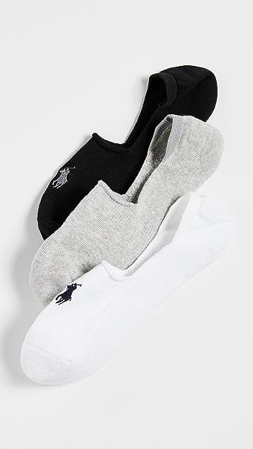 Polo Ralph Lauren 3 Pack Sneaker Liner Socks