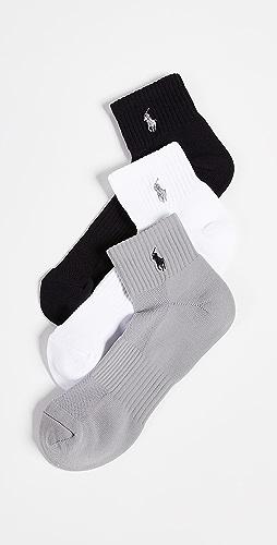 Polo Ralph Lauren - 3 Pack Tech Athletic Quarter Socks