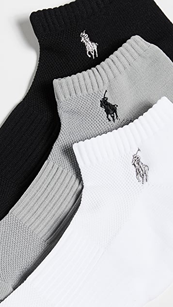 Polo Ralph Lauren 3 Pack Tech Athletic Low Cut Socks