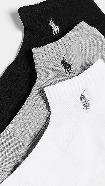 Polo Ralph Lauren 3 Pack Tech Athletic Low Cut Socks