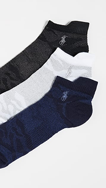 Polo Ralph Lauren 3 Pack Athletic Stripe Socks