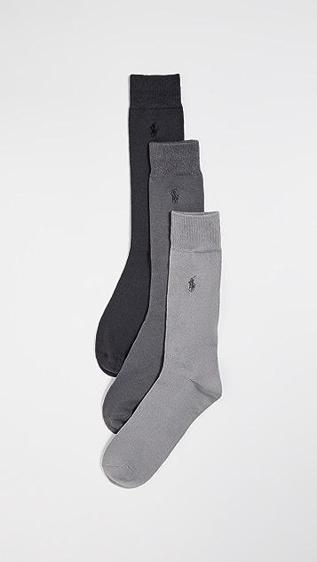 Polo Ralph Lauren 3 Pack Super-soft Flat Knit Socks