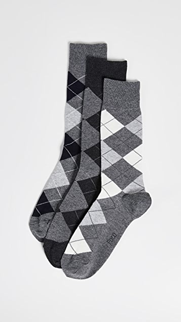 Polo Ralph Lauren 3 Pack Argyle Socks