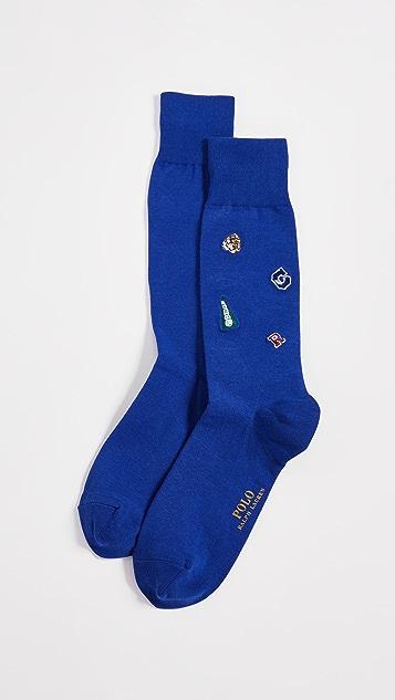 Polo Ralph Lauren Varsity Embroidery Socks