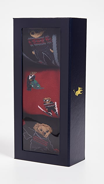 Polo Ralph Lauren Ski Jumper Socks 3-Pack Gift Box