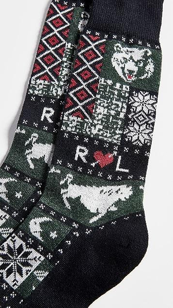 Polo Ralph Lauren Camp Patchwork Boot Socks