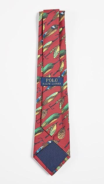 Polo Ralph Lauren Fish Fly Print Tie
