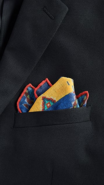 Polo Ralph Lauren Beaded Print Pocket Square