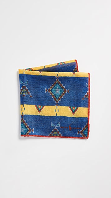Polo Ralph Lauren Beaded Print Pocket Square