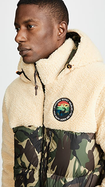 Polo Ralph Lauren Paneled Down Coat