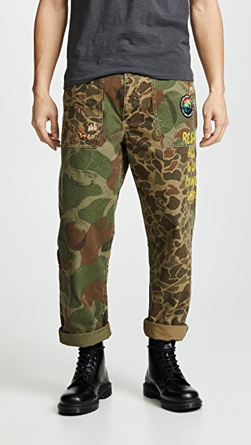 Polo Ralph Lauren Great Outdoors Camo Canvas Patchwork Pants