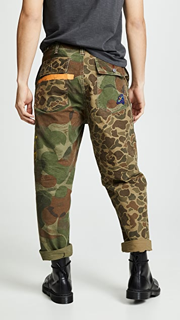 Polo Ralph Lauren Camo Canvas Patchwork Pants