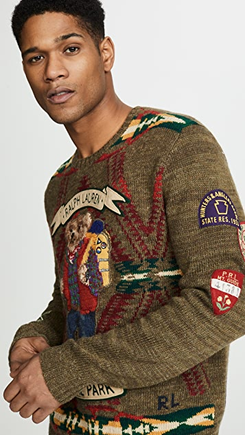 Polo Ralph Lauren Hiking Bear Wool Sweater