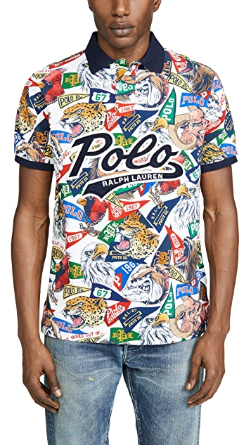 Polo Ralph Lauren Allover Print Polo Shirt