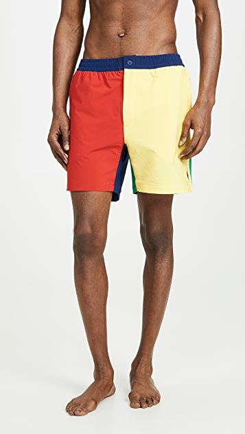 Polo Ralph Lauren Colorblocked Swim Trunks