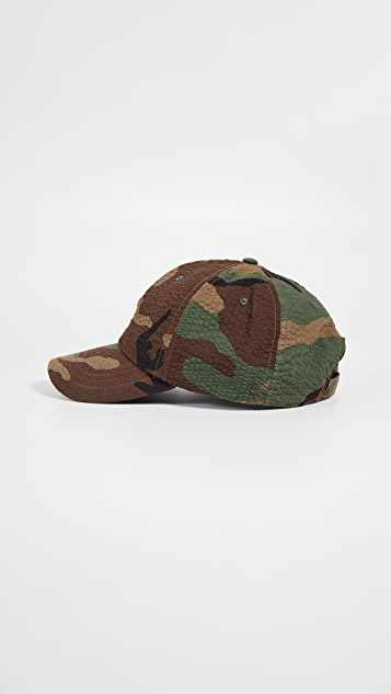 Polo Ralph Lauren Seersucker Pony Baseball Cap