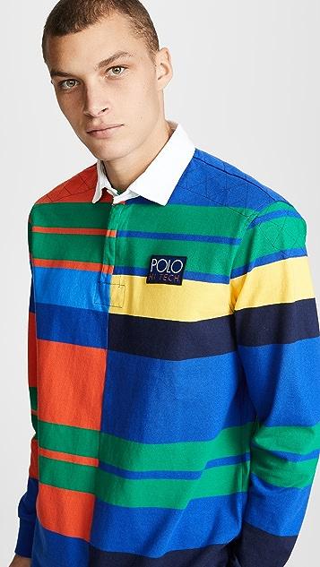 40f35d394ce Polo Ralph Lauren Hi Tech Rustic Rugby Polo Shirt | EAST DANE