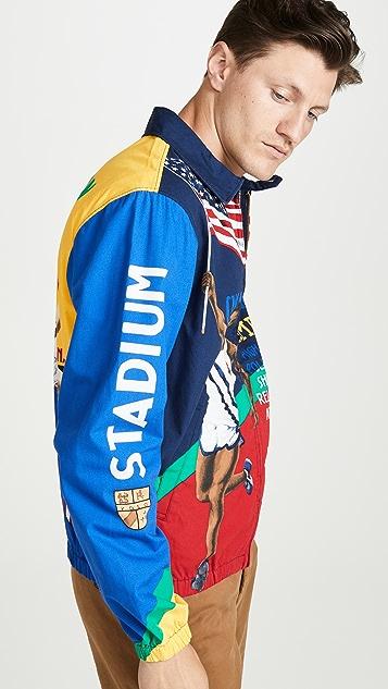 Polo Ralph Lauren Chariots Poster Print Track Jacket
