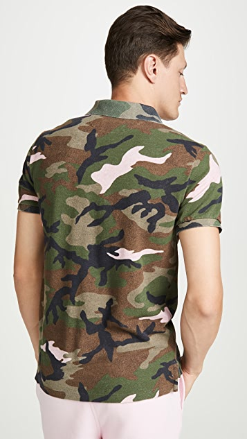 Polo Ralph Lauren Short Sleeve Mesh Camo Polo Shirt