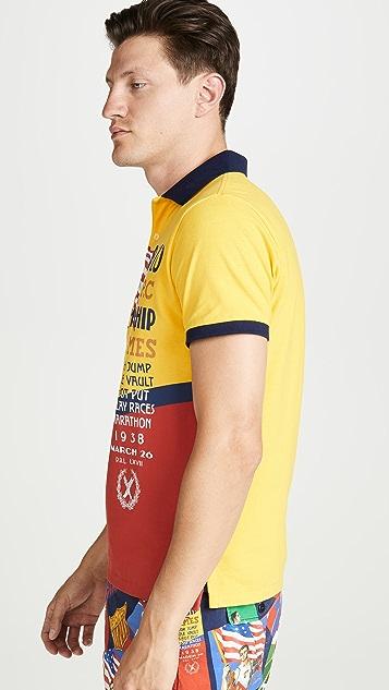 Polo Ralph Lauren Chariots Print Polo Shirt
