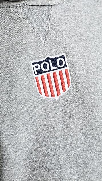 Polo Ralph Lauren Chariots Crest Logo Pullover Hoodie